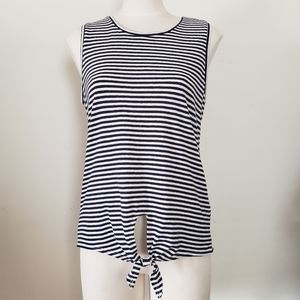 J. Crew Striped Sleeveless Shirt